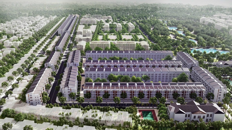 Phối cảnh 4 đất đấu giá Đông Phong - Yên Phong - Bắc Ninh Văn Phú Invest