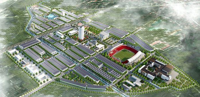 Phối cảnh dự án Chí Linh Palm City - Trường Linh Hải Dương