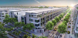 Phối cảnh góc liền kề shophouse dự án Từ Sơn Garden City Nam Hồng