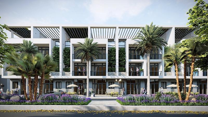 Phối cảnh nhà phố dự án The Spring Town Xuân Mai - Hòa Lạc
