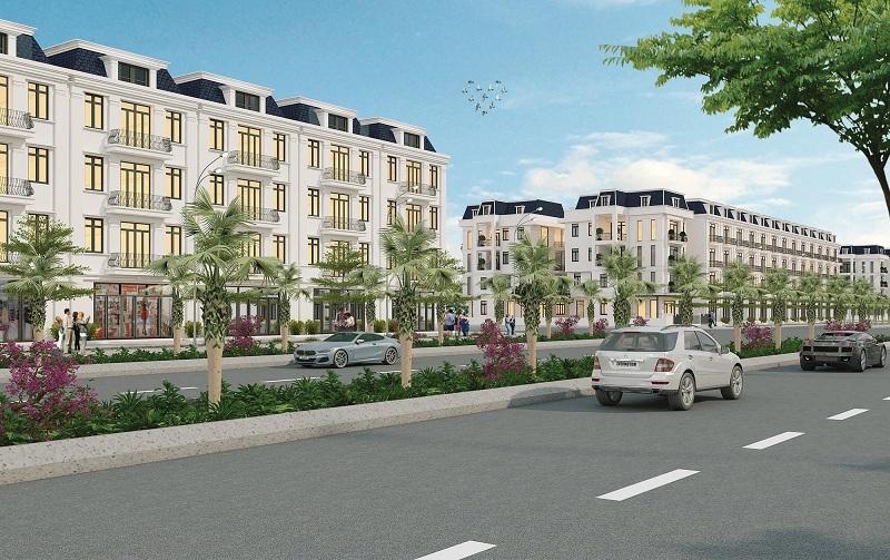 Phối cảnh Shophouse dự án Chí Linh Palm City - Trường Linh Hải Dương