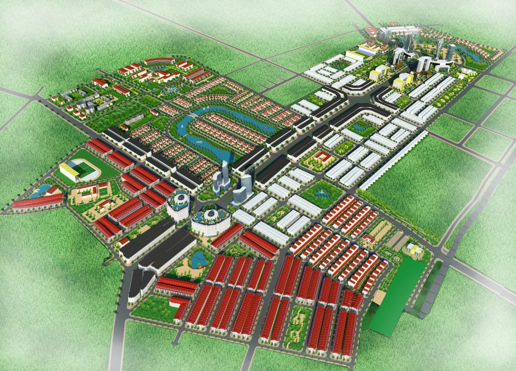 Phối cảnh tổng thể dự án Từ Sơn Garden City Nam Hồng