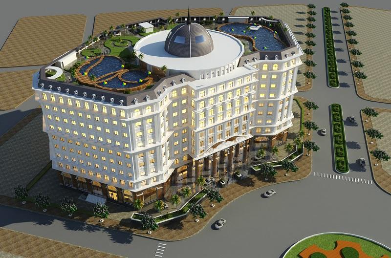 Phối cảnh trung tâm thương mại dự án Từ Sơn Garden City Nam Hồng