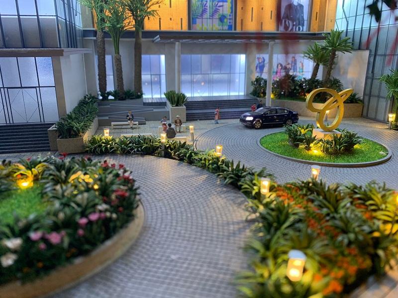Sảnh cư dân chung cư BRG Diamond Residence 25 Lê Văn Lương