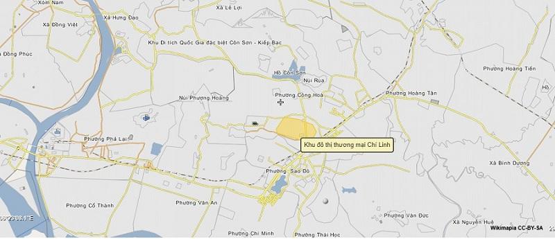 Vị trí dự án Chí Linh Palm City - Trường Linh Hải Dương