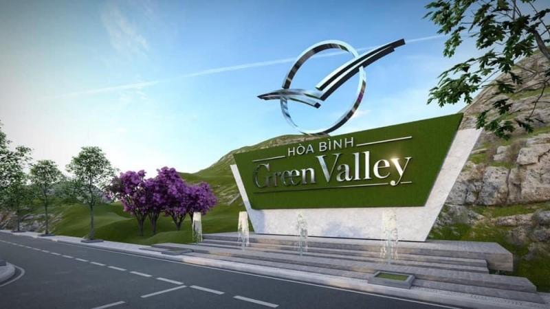 Cổng chào Đất nền Hòa Bình Green Valley Hòa Lạc
