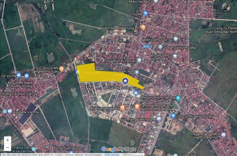 Vị trí dự án Bảo Long New City Hương Mạc - Từ Sơn