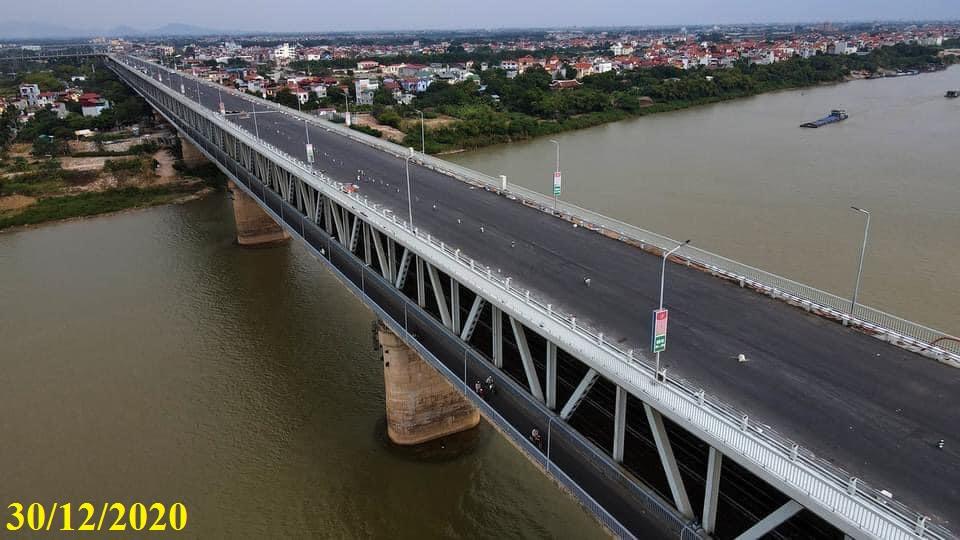 Cầu Thăng Long sắp đến ngày thông xe tháng 1/2021