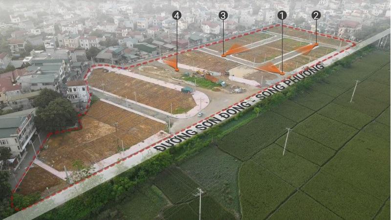 Flycam thực tế khu đất đấu giá Sơn Đồng - Song Phương
