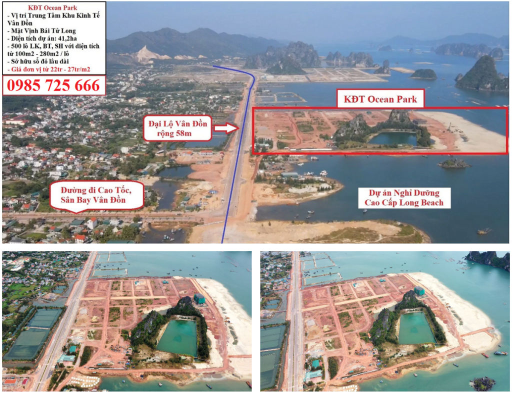 Flycam thực tế Ocean Park Vân Đồn - Quan Minh