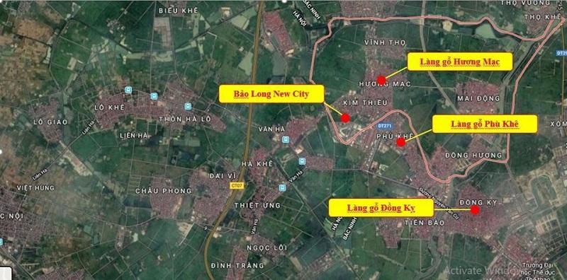 Kết nối dự án Bảo Long New City Hương Mạc - Từ Sơn