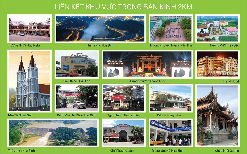 Kết nối tiện ích dự án TSG Hòa Bình Centre