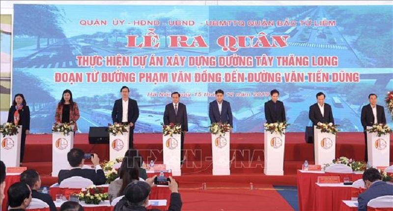 Lễ khởi công Tây Thăng Long đoạn từ Phạm Văn Đồng đến Văn Tiến Dũng