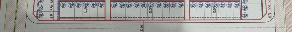Mặt bằng phân lô dãy 3 khu đấu giá Tây Tựu mặt đường Tây Thăng Long - Bắc Từ Liêm