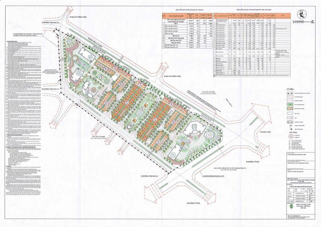 Mặt bằng phân lô chi tiết dự án FLC Premier Parc Lê Quang Đạo - Đại Mỗ
