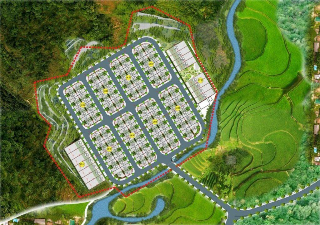 Mặt bằng phân lô dự án đất nền Hòa Bình Green Valley Hòa Lạc