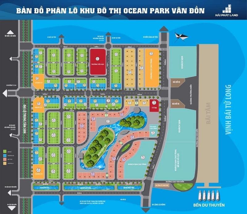 Mặt bằng phân lô Ocean Park Vân Đồn - Quan Minh