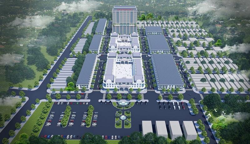 Phối cảnh dự án Shophouse - Kiot Chợ Tiên Lữ - Hưng Yên