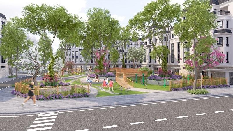 Phối cảnh tiện ích không gian xanh Eurowindow Park View Trâu Quỳ - Gia Lâm