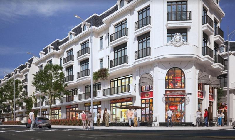 Phối cảnh nhà phố khu đất đấu giá Sơn Đồng - Song Phương