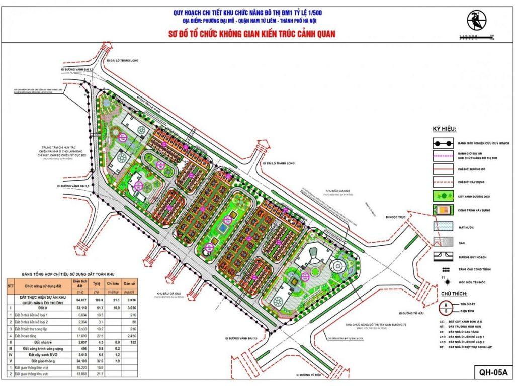 Quy hoạch chi tiết 1/500 FLC Premier Parc Lê Quang Đạo - Đại Mỗ