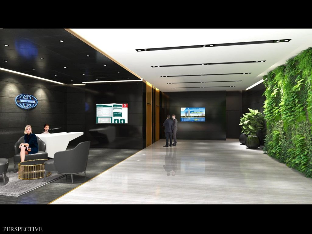 Sảnh thương mại văn phòng Green Diamond 93 Láng Hạ Vinaconex
