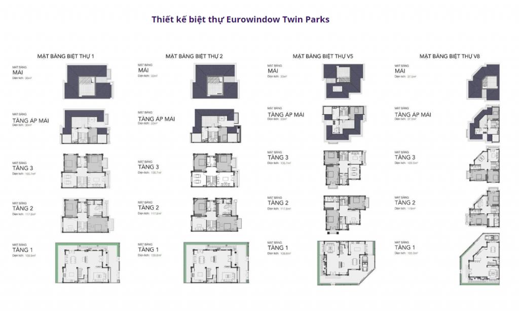 Thiết kế biệt thự dự án Eurowindow Twin Parks Trâu Quỳ - Gia Lâm