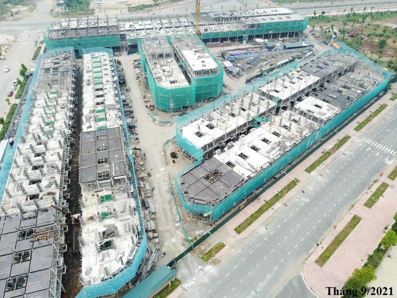 Tiến độ thi công dự án TSG Hòa Bình Centre tháng 9/2021