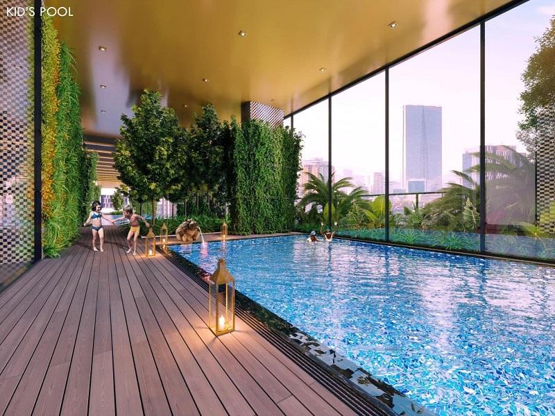 Tiện ích bể bơi Green Diamond 93 Láng Hạ Vinaconex