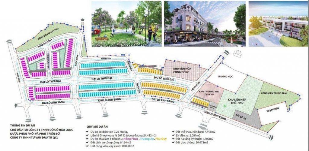 Tổng mặt bằng dự án Bảo Long New City Hương Mạc - Từ Sơn