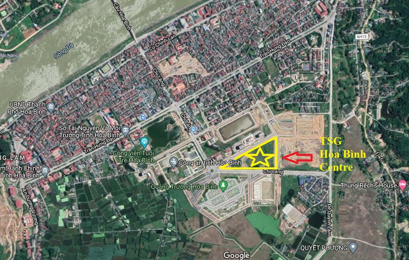 Vị trí dự án TSG Hòa Bình Centre trên vệ tinh