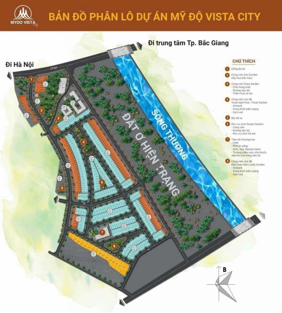 Bản đồ quy hoạch Mỹ Độ Vista City - Bắc Giang