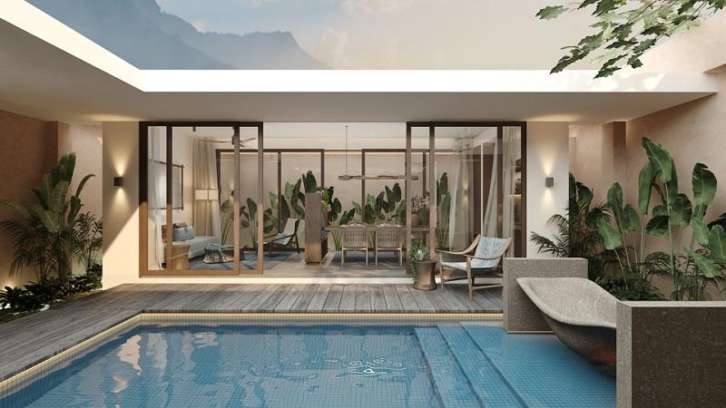 Bể bơi biệt thự dự án Apec Mandala Kim Bôi - Hòa Bình