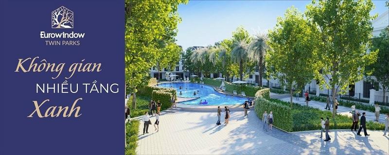 Bể bơi dự án Eurowindow Twin Parks Trâu Quỳ - Gia Lâm