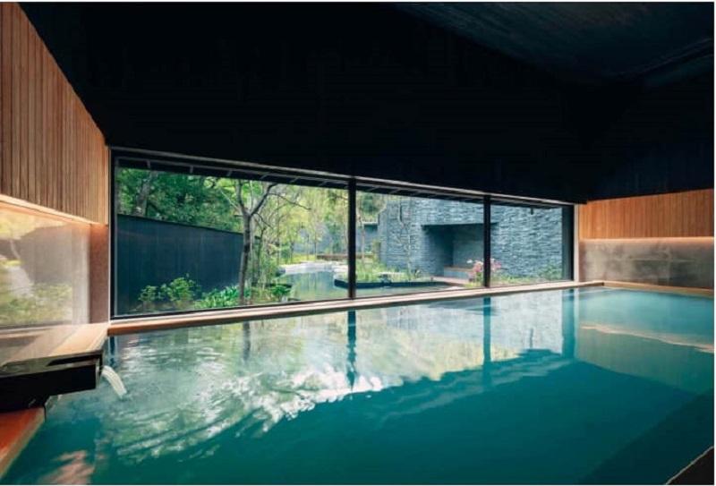 Bể bơi khoáng nóng dự án Apec Kim Bôi - Hòa Bình Mandala Hot Spring Retreat