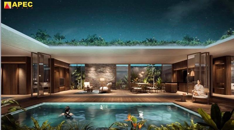 Bể ngâm khoáng nóng dự án Apec Kim Bôi - Hòa Bình Mandala Hot Spring Retreat