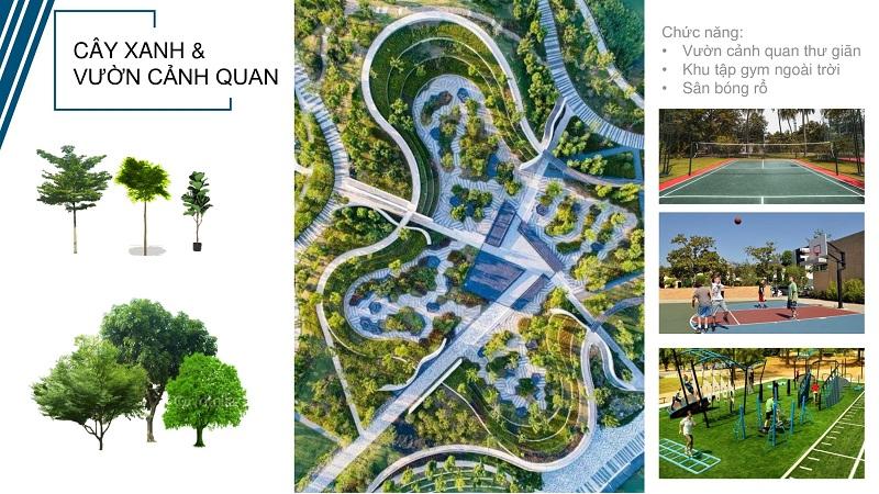 Không gian xanh dự án Felicity Trưng Vương - Uông Bí