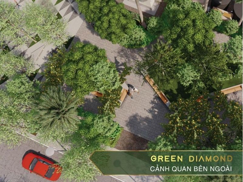 Không gian xanh Liền kề - Shophouse Green Diamond Hạ Long Handico 6