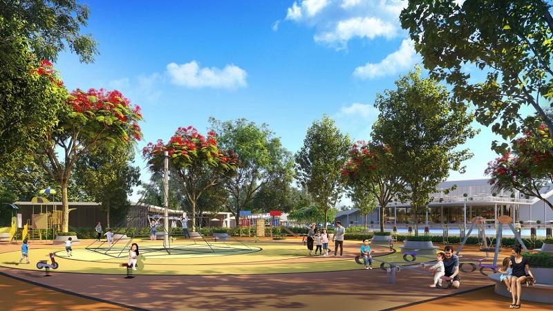 Khu vui chơi dự án Eurowindow Twin Parks Trâu Quỳ - Gia Lâm