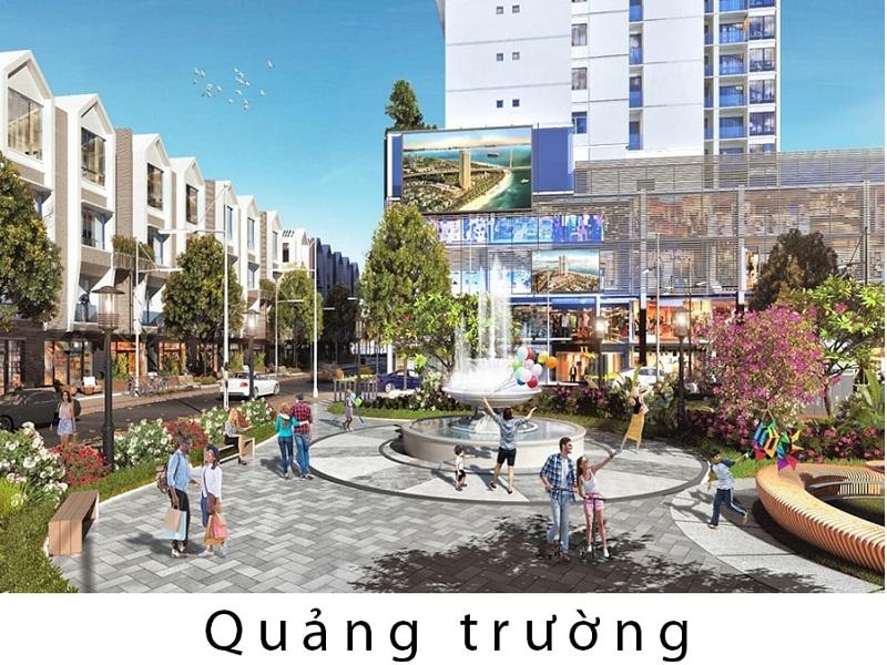 Quảng trường dự án Liền kề - Shophouse Green Diamond Hạ Long Handico 6
