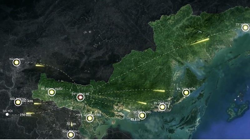 Vị trí đắc địa, kết nối thông minh các khu vực của thành phố Uông Bí - Quảng Ninh