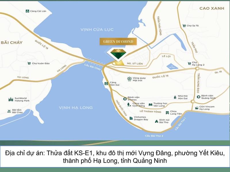Vị trí dự án Liền kề - Shophouse Green Diamond Hạ Long Handico 6