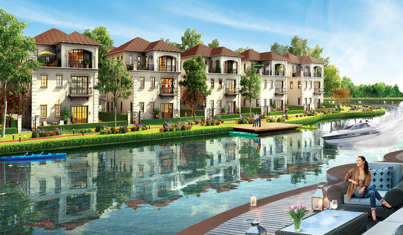 Biệt thự ven sông dự án khu đô thị sinh thái Xuân Cầu - Văn Giang