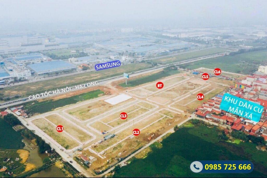 Flycam tiến độ đất nền Mẫn Xá - Long Châu - Yên Phong