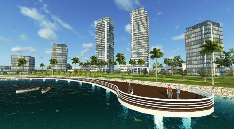 Không gian xanh dự án khu đô thị sinh thái Xuân Cầu - Văn Giang