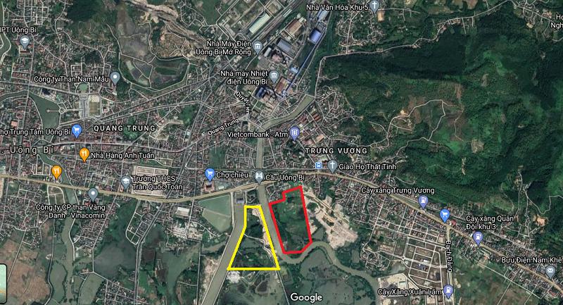 Map thực tế TNR Grand Palace River Park Sông Uông - TNR Stars Uông Bí