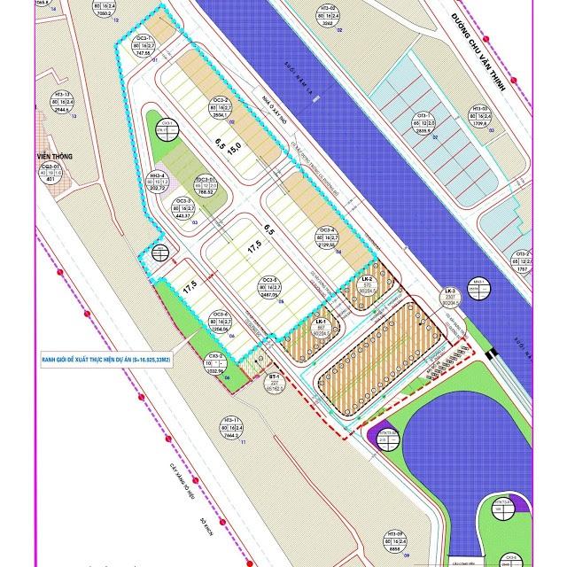 Mặt bằng phân lô dự án TNR Grand Palace Nậm La - Sơn La