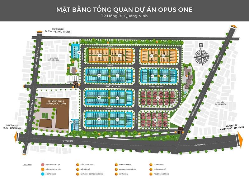 Mặt bằng tổng quan Opus One Lạc Trung - Uông Bí