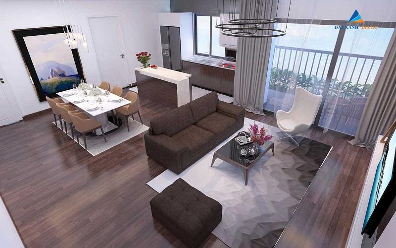 Nội thất phòng khách Eco Smart City Cổ Linh - Long Biên