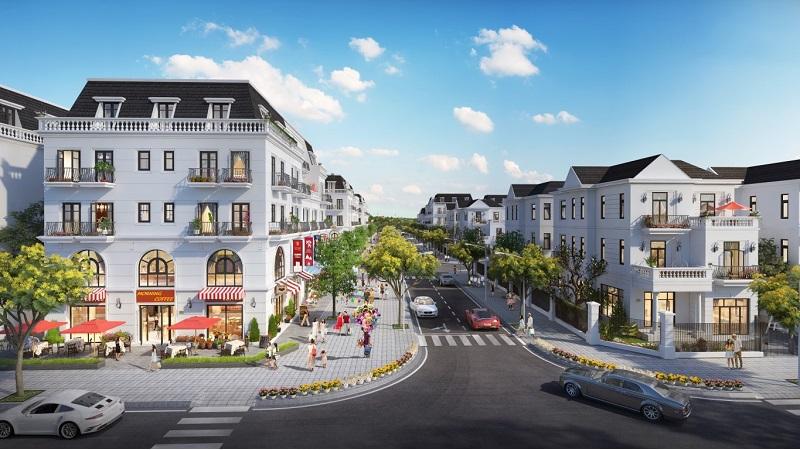 Phối cảnh biệt thự dự án Central City Lạc Trung - Uông Bí